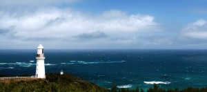 Lighthouse at Cape Otway, Victoria, Australia, commissioned in the 1830's, looking out over the wild Southern Ocean.